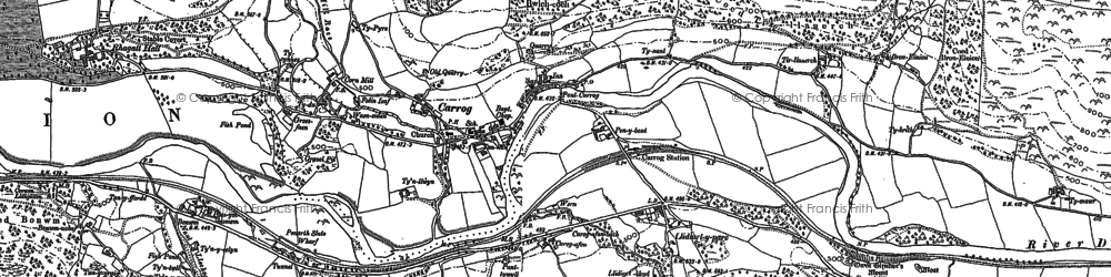 Old map of Llidiart-y-Parc in 1899