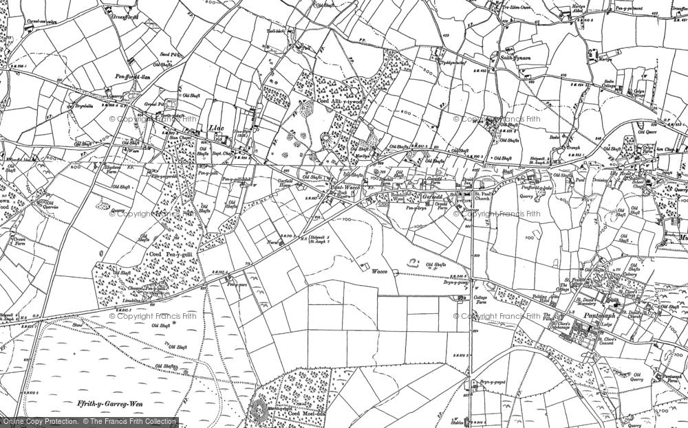 Map of Lloc, 1898 - 1910