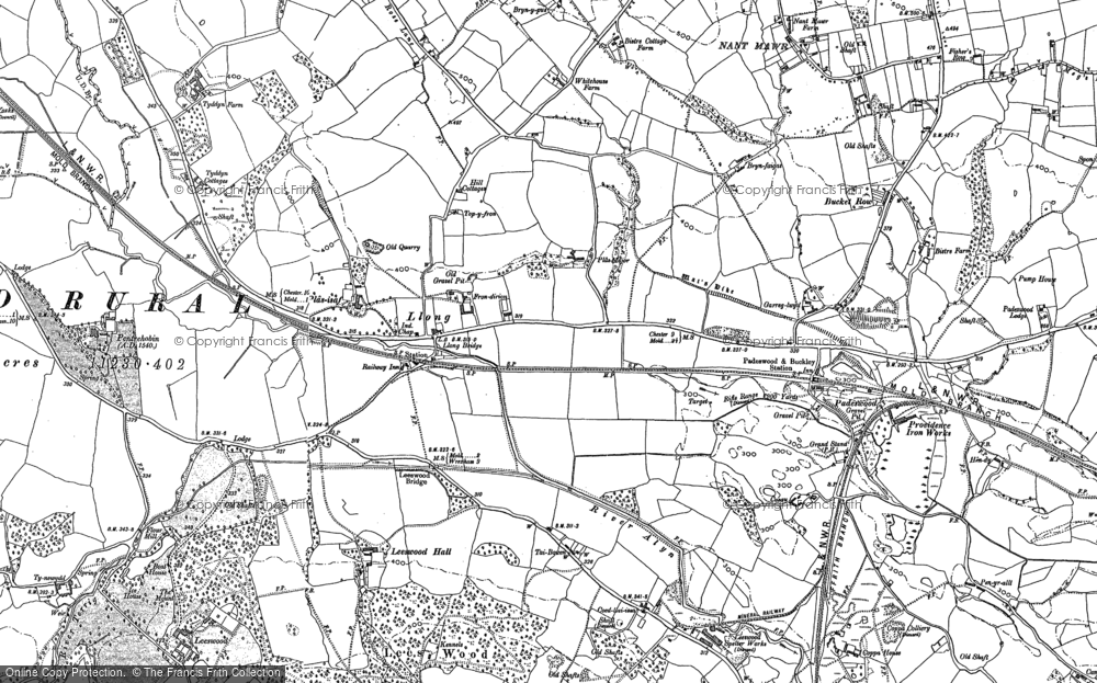 Old Map of Historic Map covering Leeswood Old Hall in 1898