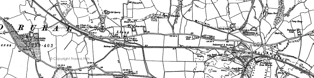 Old map of Leeswood Hall in 1898