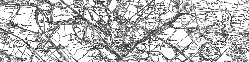 Old map of Llwydcoed in 1898