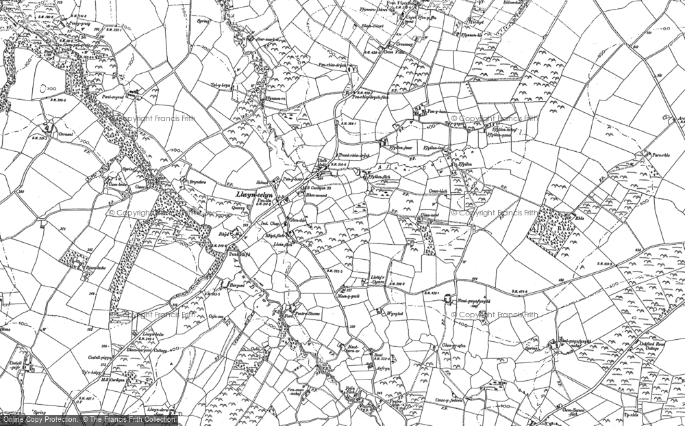Old Map of Historic Map covering Afon Drywi in 1904