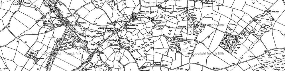Old map of Afon Drywi in 1904