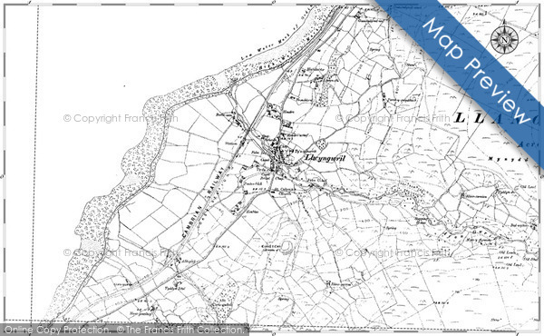 Old Map of Historic Map covering Afon Gwril in 1900