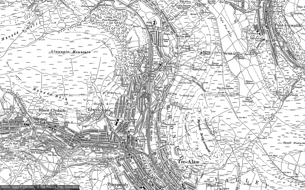 Old Map of Llwynypia, 1898 in 1898
