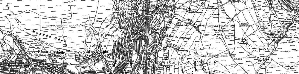 Old map of Llwynypia in 1898
