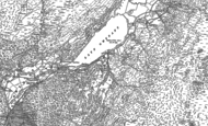 Old Map of Llyn Gwynant, 1888