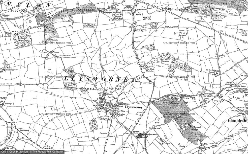 Old Map of Llysworney, 1897 in 1897