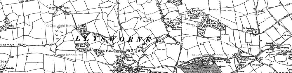 Old map of Llysworney in 1897