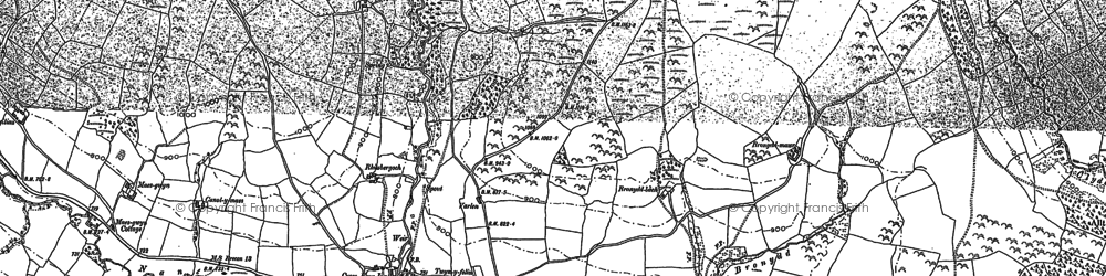 Old map of Bailea in 1885