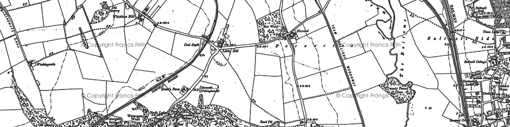 Old map of Whickham Hill in 1895