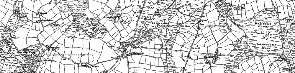 Old map of Lockengate in 1880