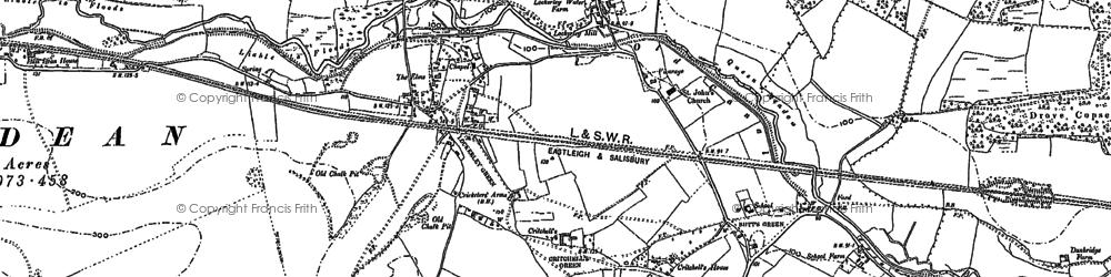 Old map of Lockerley in 1895