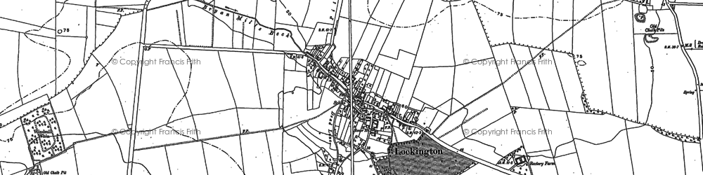 Old map of Windmill Whin in 1890