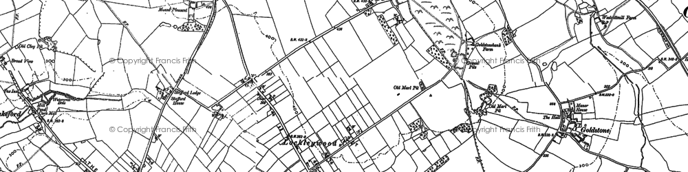 Old map of Woodlane in 1880