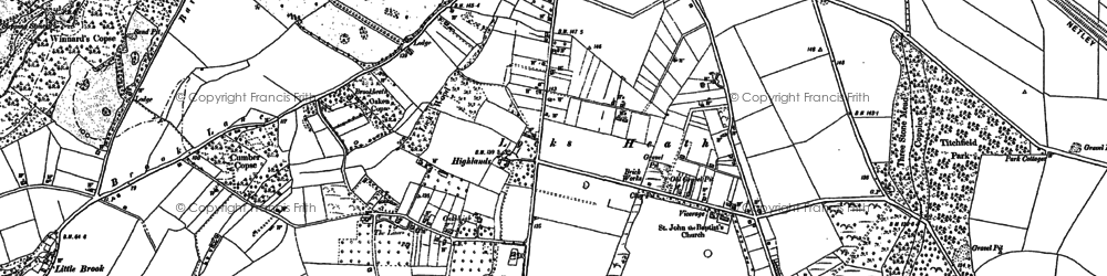 Old map of Abshot in 1895