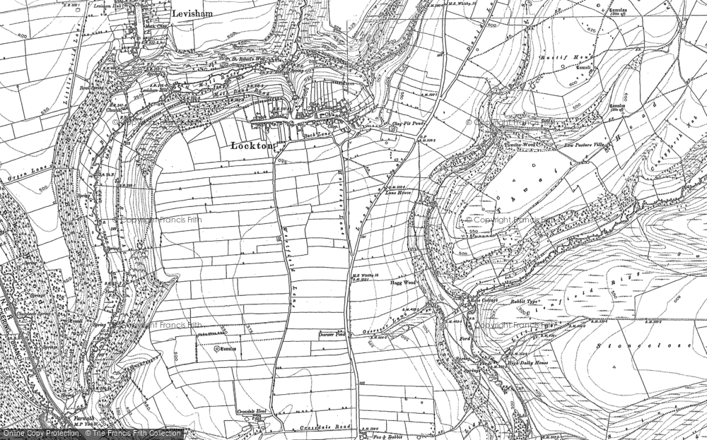 Old Map of Historic Map covering Adderstone Rigg in 1891