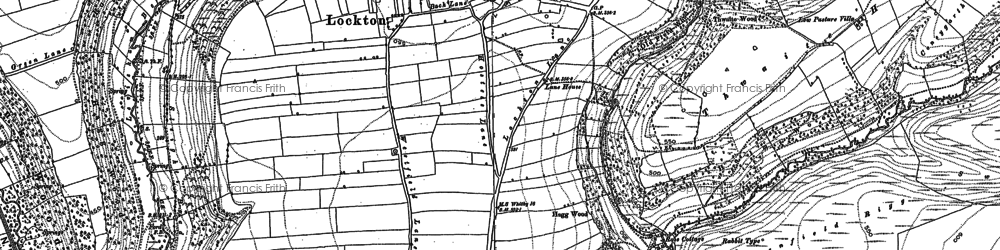 Old map of Adderstone Rigg in 1891