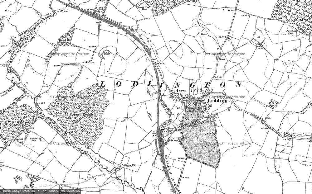 Old Map of Historic Map covering Launde Park Wood in 1904