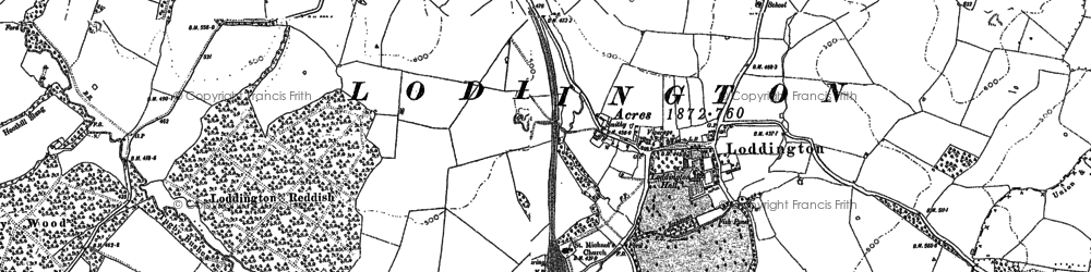 Old map of Launde Park Wood in 1904