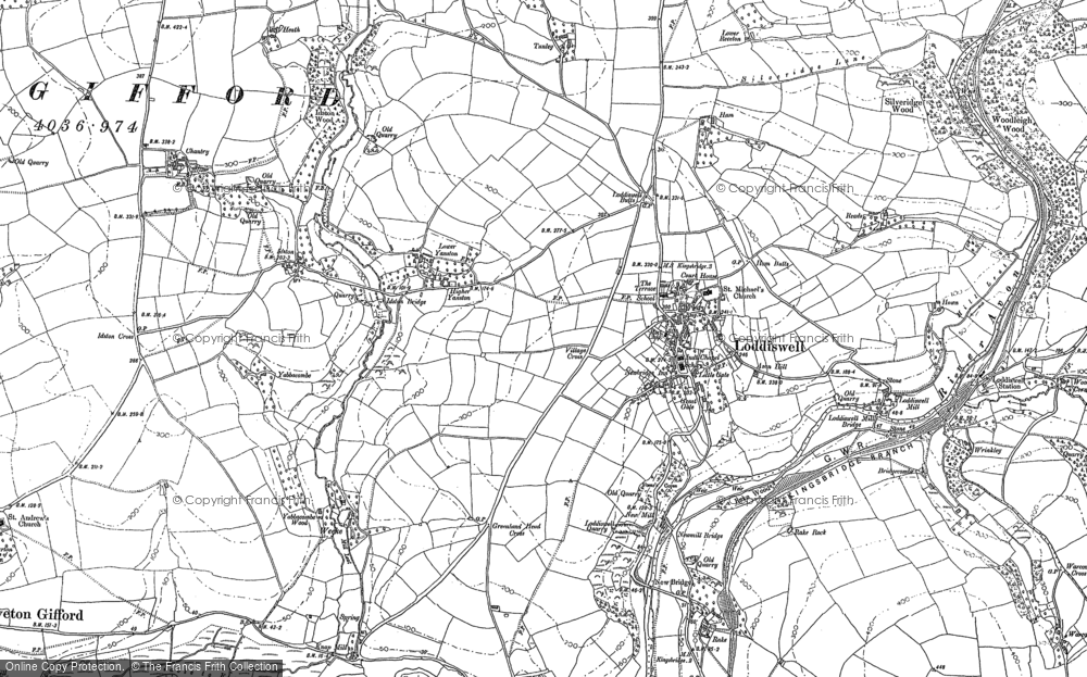 Old Map of Historic Map covering Alleron in 1885