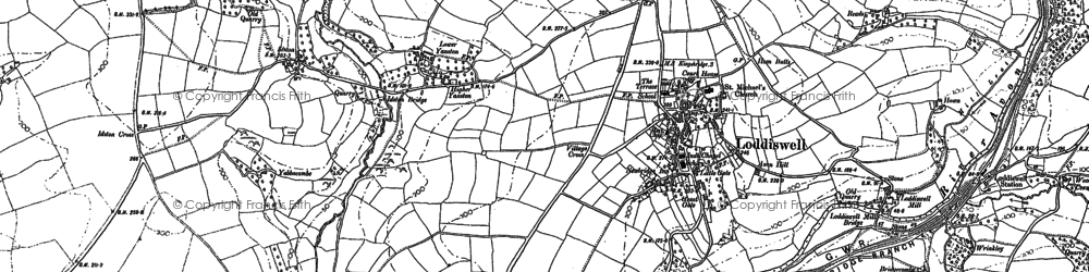 Old map of Alleron in 1885