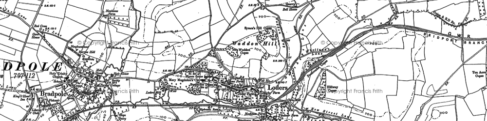 Old map of Yondover in 1901