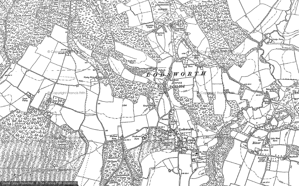 Old Map of Historic Map covering Leggatt Hill in 1895