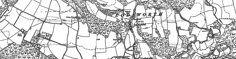 Old map of Lodsworth in 1895