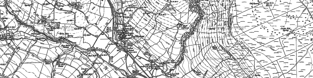 Old map of Lofthouse in 1890