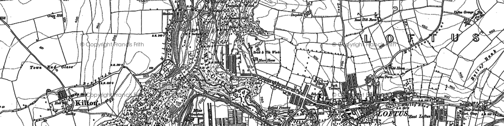 Old map of Loftus in 1893