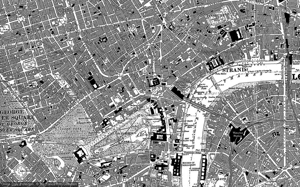 Map Soho London.Old Maps Of Soho Francis Frith