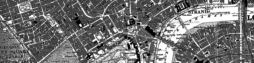 Old map of London in 1894