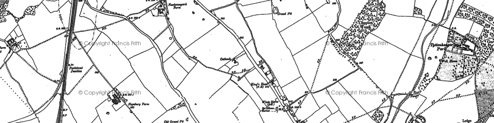 Old map of London Colney in 1895