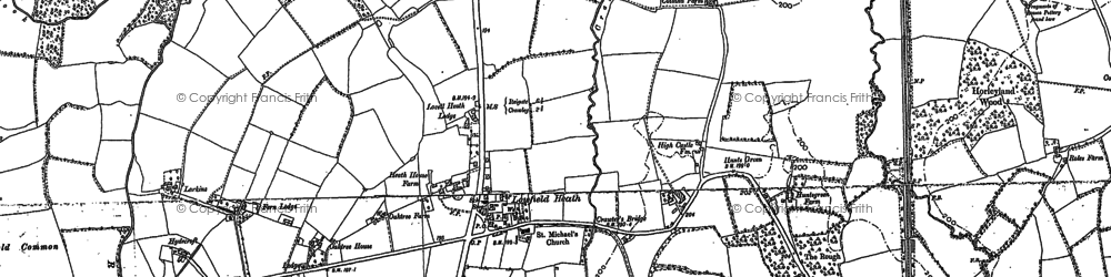 Old map of London Gatwick Airport in 1910
