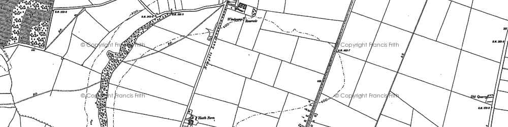 Old map of Alma Wood in 1885