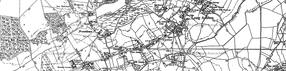 Old map of Ashton Hill in 1883