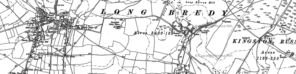 Old map of Ashley Chase Dairy in 1886