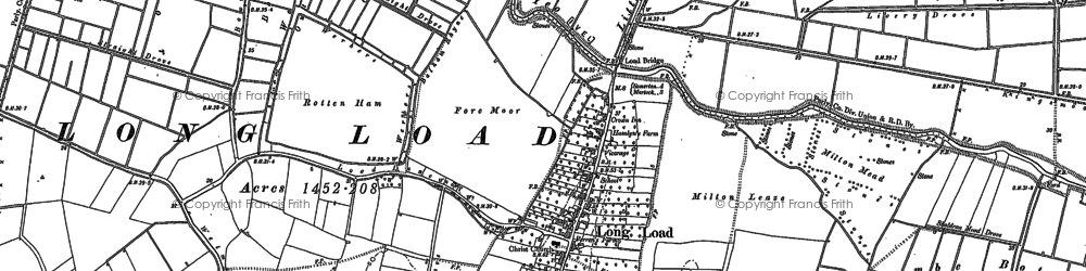 Old map of Wet Moor in 1885