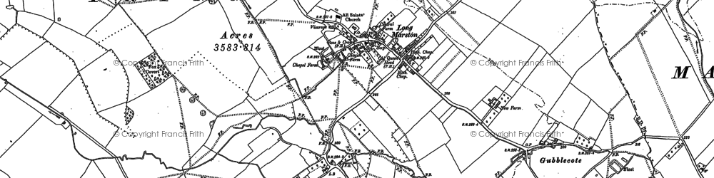 Old map of Aylesbury Ring in 1922