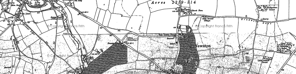 Old map of Addy's Firs in 1899