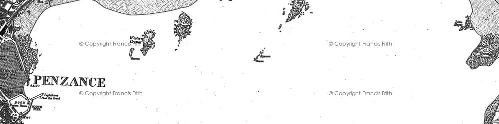 Old map of Longrock in 1877