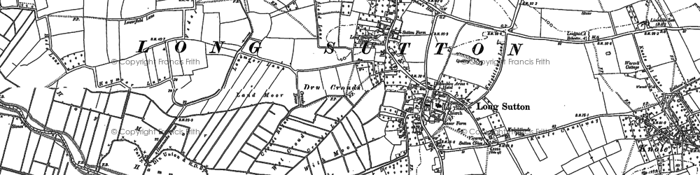 Old map of Long Sutton in 1885