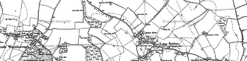 Old map of Long Sutton in 1894