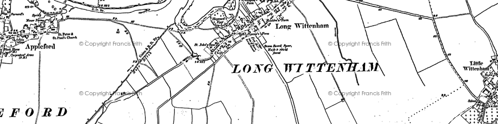 Old map of Long Wittenham in 1898
