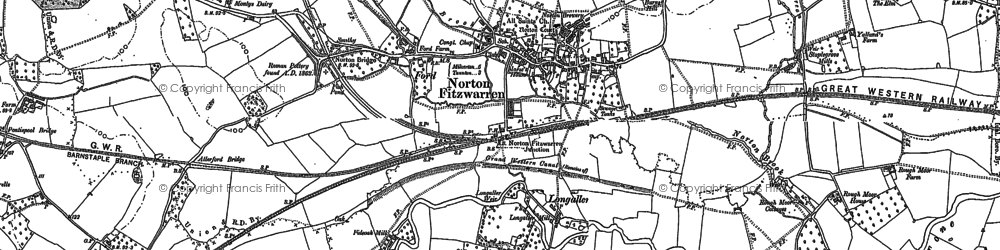 Old map of Barr in 1887