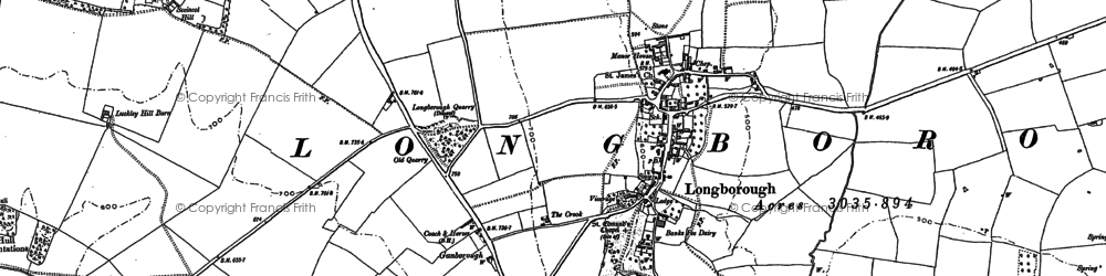 Old map of Banks Fee in 1883