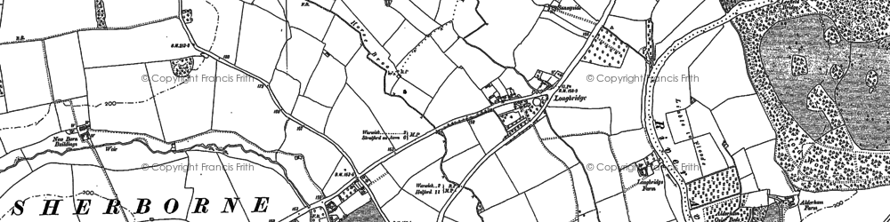 Old map of Barford Wood in 1885