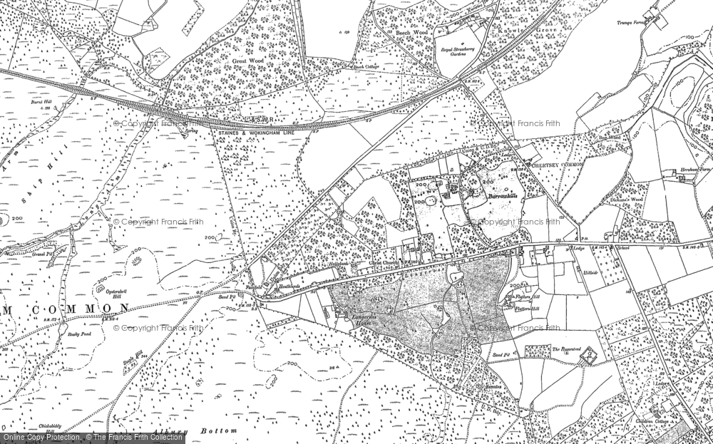 Old Map of Historic Map covering Albury Bottom in 1894