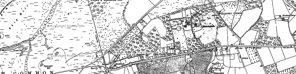 Old map of Albury Bottom in 1894